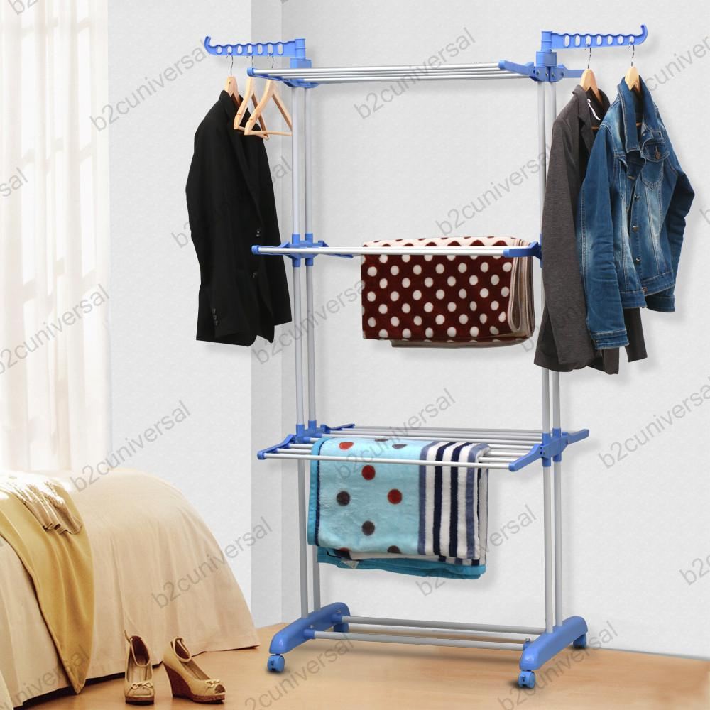 Outdoor Cloth Dryer ~ Foldable extra large tier indoor outdoor airer clothes