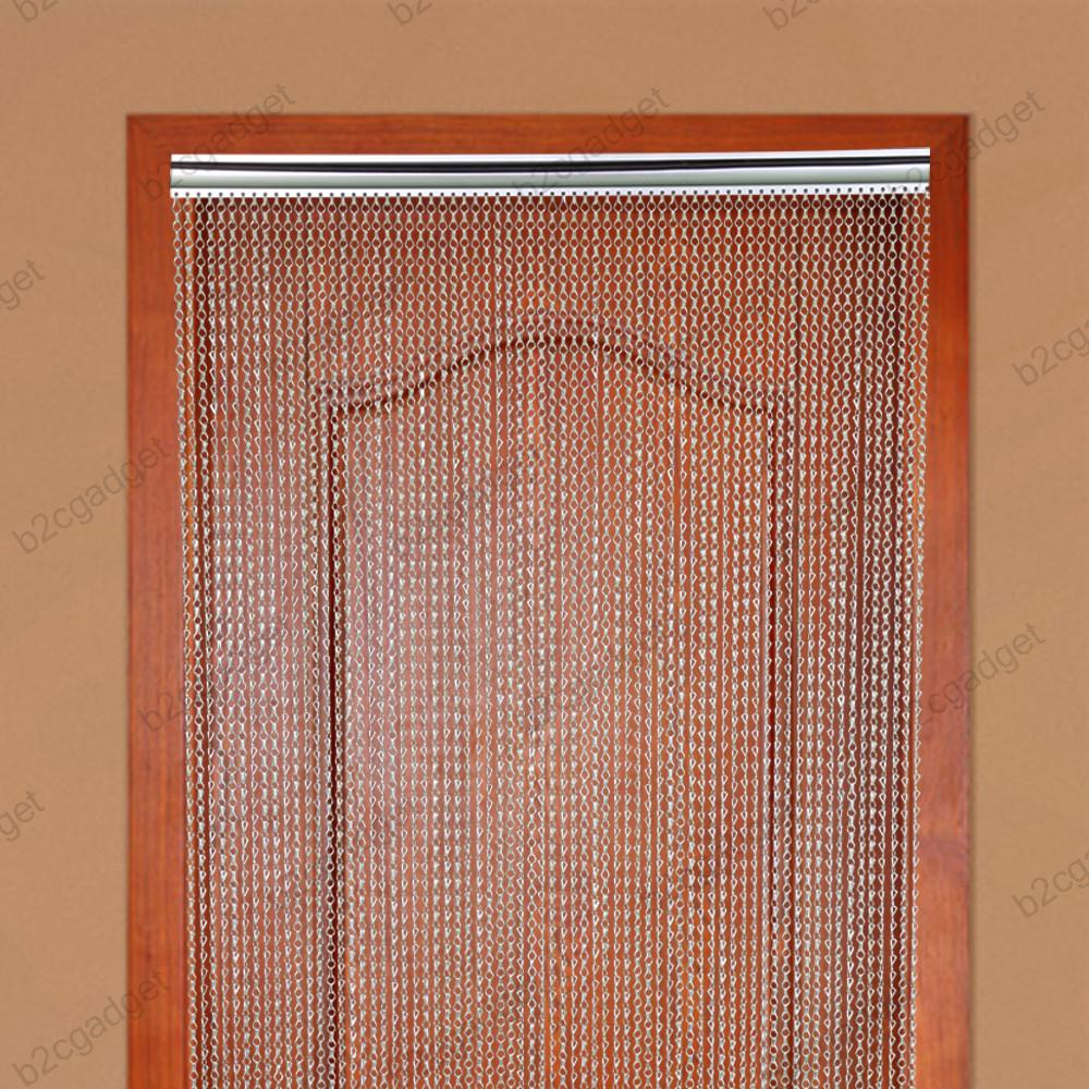 Metal Insect Door Screen Curtain Fly Chain 210 X 90CM