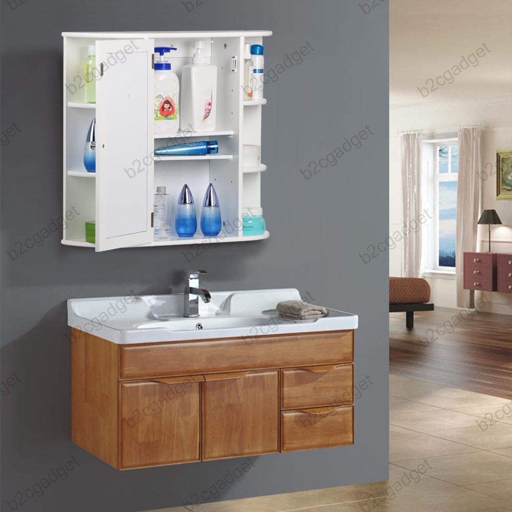 about white wooden bathroom mirror cabinet bathroom wall cabinets