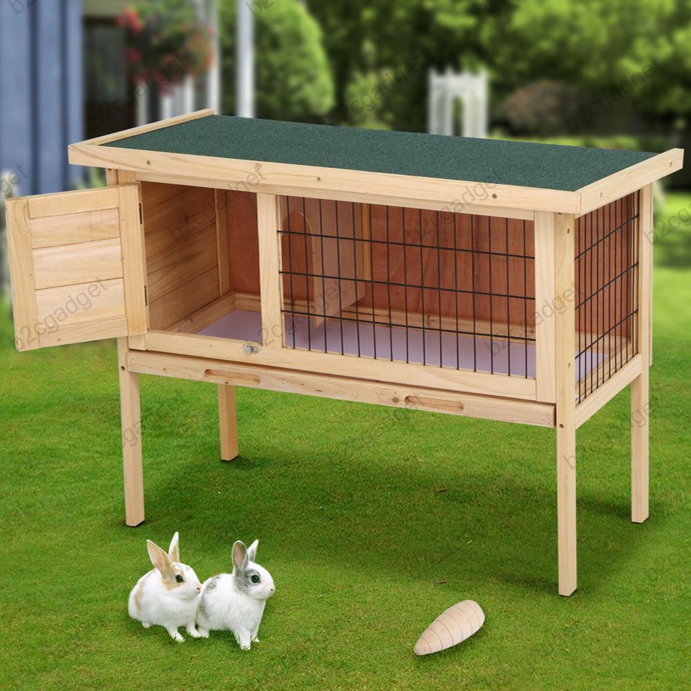 Rabbit Hutches Hutch Deluxe Single Rabbit Guinea Pig Hutch